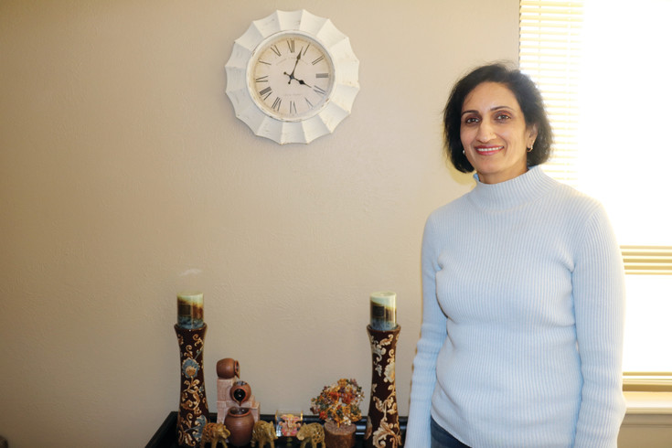 Mental health counselor Sujatha Reddy at her Lakewood SonderMind office. Reddy runs the Lakewood location, which is used by 17 area therapists.