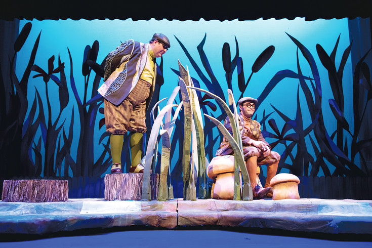"Frog (Brandon Bil), left, and Toad (Matt LaFontaine), right, go through a year in the life in ""A Year With Frog and Toad,"" the children's production at the Arvada Center."