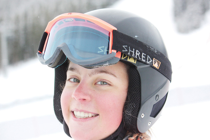 Casey Adams takes a break from training to show off her smile in November. Adams first hit the slopes as a 1-year-old and decided she wanted to become a professional skier after watching the 2006 Olympic Games in Turin, Italy.