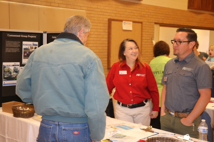 Jeffco Open Space staff meets with potential volunteers at the first annual Just Serve Volunteer Fair at the Lakewood Church of Jesus Christ of Latter-day Saints stake on Feb. 25. The event was an opportunity to connect service organizations with volunteers.