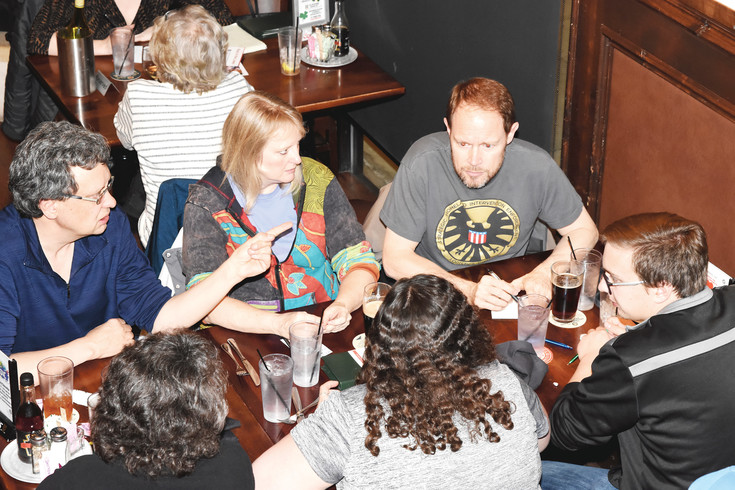 Trivia enthusiasts compete at Westminster's Exchange Tavern, Wednesday, Feb. 15.