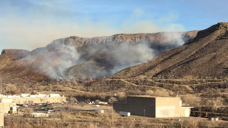 A brush fire broke out in the afternoon of March 9, on the slopes of South Table Mountain near some of the Coors facilities next to the Golden brewery.