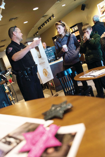 On March 9, Arapahoe County police officers interracted with community members in Centennial.