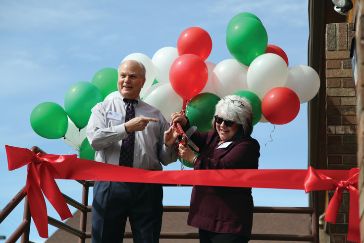 Bryan Standley and Joyce Smith cut the ribbon for the official grand re-opening of Creative Treatment Options, Inc. in Arvada.