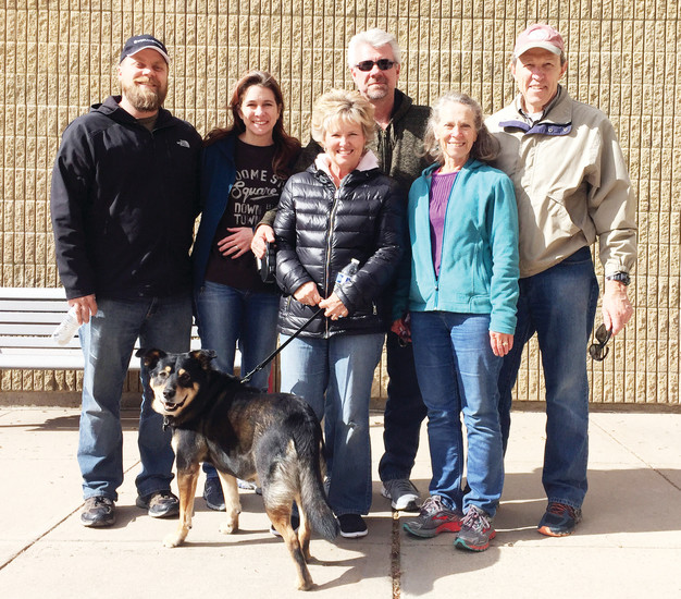 Chris and Kara Wynn, left, Tracy and David Dyrud and Tish and Mark Johnson meet at Northridge Elementary School, 555 Southpark Road, on Sunday morning to pray for the surrounding nieghborhoods. The group, which they have named Pray 4 Colorado, meets the second Sunday of every month.