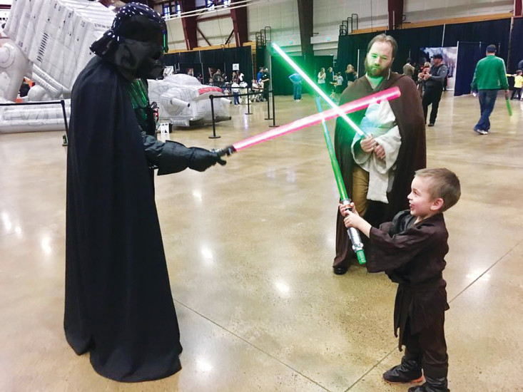 Activities at the Star Wars event in Castle Rock on March 4 included Lightsaber making and jedi training.