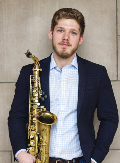 "Saxophonist Nicholas May, a graduate student at the University of Kansas, will perform with the Arapahoe Philharmonic on March 31. He is winner of the 2017 T Gordon Parks Concerto Competition and will play Dubois's ""Concerto for Alto Saxophone and Strings."