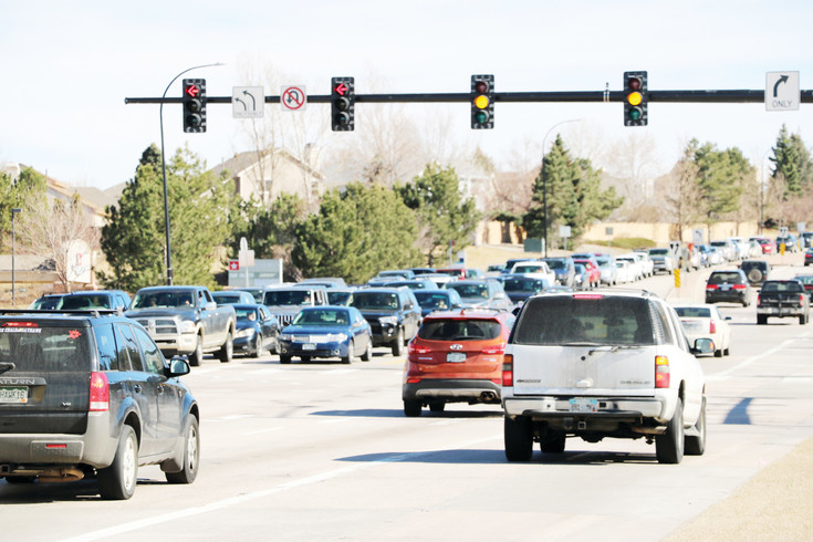 Afternoon traffic starts building up as early as 3:30 p.m. on a weekday at the intersection of Lincoln Avenue and Quebec Street, next to the Highlands Ranch post office. The intersection is one of the busiest in Highlands Ranch, Douglas County officials say.