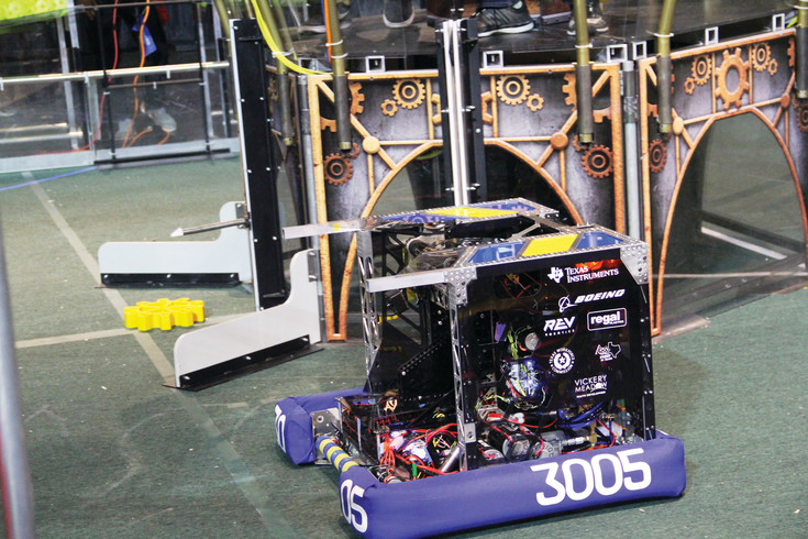 Each team started with the same basic parts kit and spent weeks building their robots. Teams customized thier robots to specialize in a different aspects of the game.