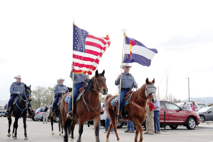 The Adams County Sheriff's Office brought in the colors during the grand opening celebration.