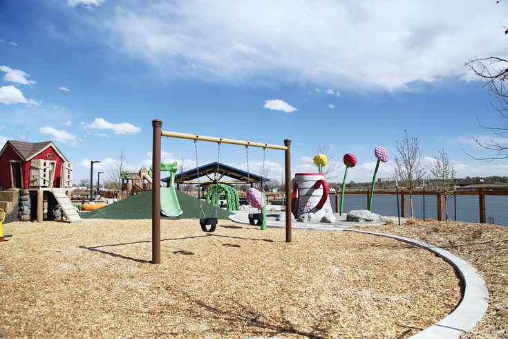 "The park features a ""destination playground"" with creative play arenas for 2- to 5-year-olds."