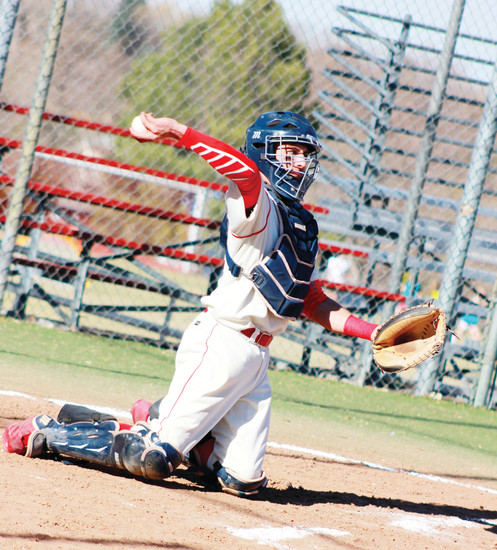Heritage catcher Casey Opitz is a switch hitter, which could benefit him as he moves on because it could keep him in the lineup longer. Coaches sometimes pinch hit for a right-handed hitting catcher. Opitz started switch hitting when he was a youngster and can face either a right-handed or left-handed pitcher.