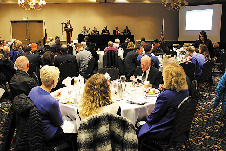 "Dozens of business owners and city officials came out Feb. 5 for the Metro North Chamber of Commerce's ""New Frontiers in Urban Renewal"" breakfast at the Doubletree Hotel in Westminster. The breakfast discussion is one example of how chamber groups help build connections among local business owners, residents and elected officials."