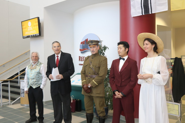 Staff at Red Rocks Community College dressed as world leaders during the World War 1 day at the college on April 6.