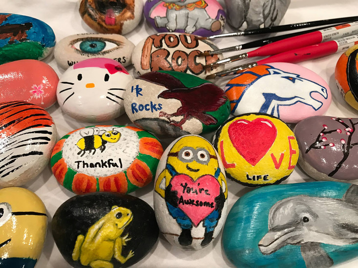 Highlands Ranch Rocks is a Facebook group that encourages residents to paint small rocks and place them in popular areas of the community, such as parks and parking lots. Photo courtesy Facebook/Highlands Ranch Rocks