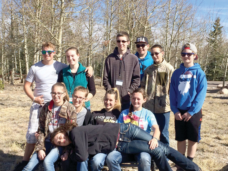 Members of Elbert County 4-H clubs attended a retreat for the South Central District the weekend of March 17 in Divide.
