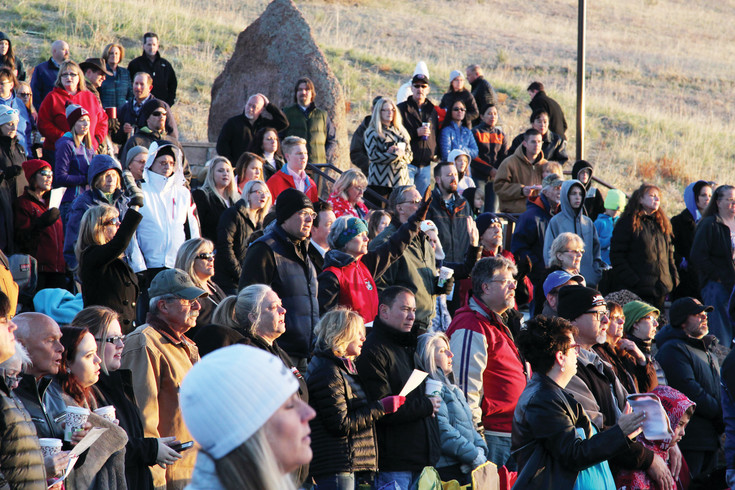 Nearly 20 churches participated in an Easter morning sunrise service at Philip S. Miller Park.