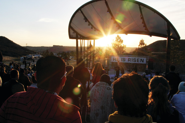 People began gathering at Philip S. Miller Park well before 6:30 a.m. for sunrise Easter services.