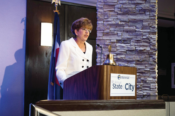 Mayor Cathy Noon gave her final State of Our City speech on April 13.