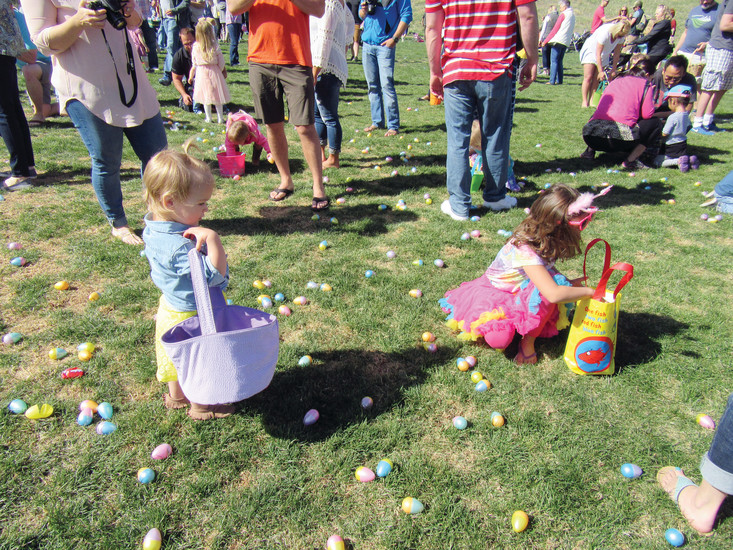 Families and friends gather at Northridge Park, 8800 S Broadway, for the annual Easter egg, presented by the Highlands Ranch Community Association. Ages 1-11 years old filled their baskets with colorful eggs and enjoyed a visit from the Easter bunny at the April 15 event.