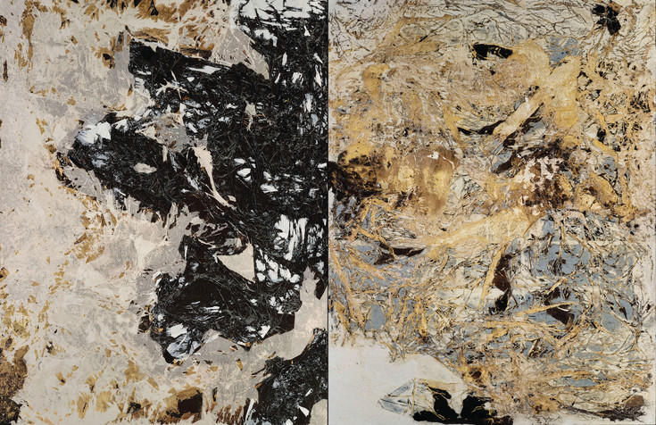 """Realness"" by contemporary abstract painter Mark Bradford is included in ""Shade,"" an exhibit of works by Bradford and Clyfford Still at the Denver Art Museum and Clyfford Still Museum."