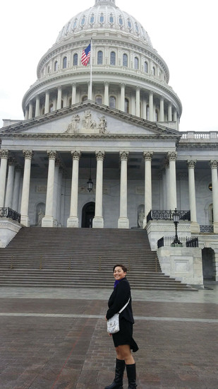 Parker 17-year-old Grace Garcia approaches the Capitol Building in Washington D.C. in March. Garcia was selected by the Epilepsy Foundation of Colorado to represent the group while speaking with members of Colorado's congressional delegation. Garcia advocated for protecting and increasing funding for epilepsy research as well as the Center for Disease Control and the National Institute of Health.
