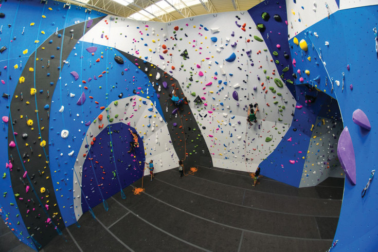 A photo of one of the Earth Treks Climbing and Fitness shows the height of the rope walls. The design and style will be similar for the rope walls that will be built in the Englewood Earth Treks facility. The Englewood facility is planned in about half of the south building of the former Sports Authority Headquarters and construction is scheduled to begin in August.