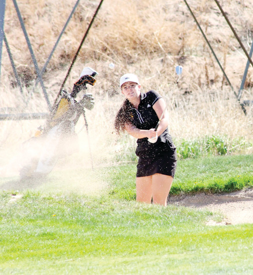 "Beth Lebar, a  senior and team captain for the Arapahoe girls golf team, said it has taken time to deal with getting out of sand bunkers. ""By the end of my  sophomore year I really started to analyze how to hit a sand shot versus just going up  and hoping I would get out."""