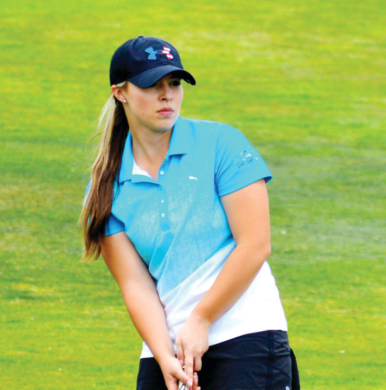 "Ralston Valley senior Jordan Remley is one of the state's top girl golfers  but admits that her play in getting out of sand traps is one of the weak parts of her game. ""My point is just don't get in them,"" she says."