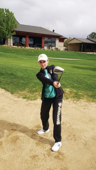 Rock Canyon senior Brooklyn Murphy's play in the sand trap has improved dramatically. She says practice helps build confidence to successfully get out of sand traps.