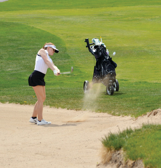 "Lakewood's Chloe Weigum claims sand bunkers can be a mental block for many golfers. ""If I say I can hit out of it, then I can hit out of it,"" she says. ""If I don't put that mindset in my head, it just doesn't work."""