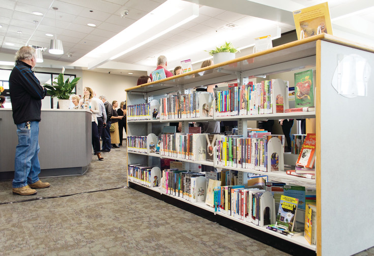 Citizens can check out books at The Hub through the Douglas County Library system. Residents can also drop off library books and put certain books on hold.