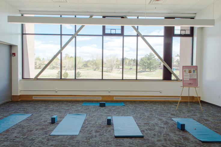 Three multi-purpose rooms in The Hub will be used for low-impact exercise, children's programs and adult social events and classes.