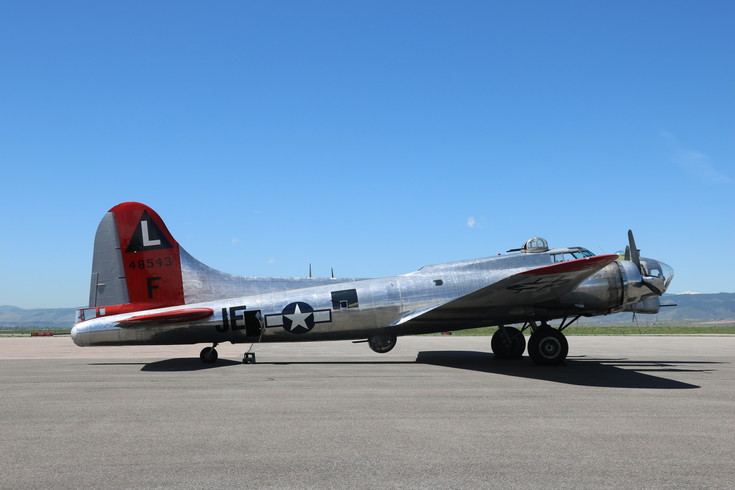 "Commonly known as a ""flying fortress,"" B-17 bombers were important instruments in winning World War II. The Liberty Foundation owns one such plane, and brought it to the Rocky Mountain Metro Airport for tours and flights."