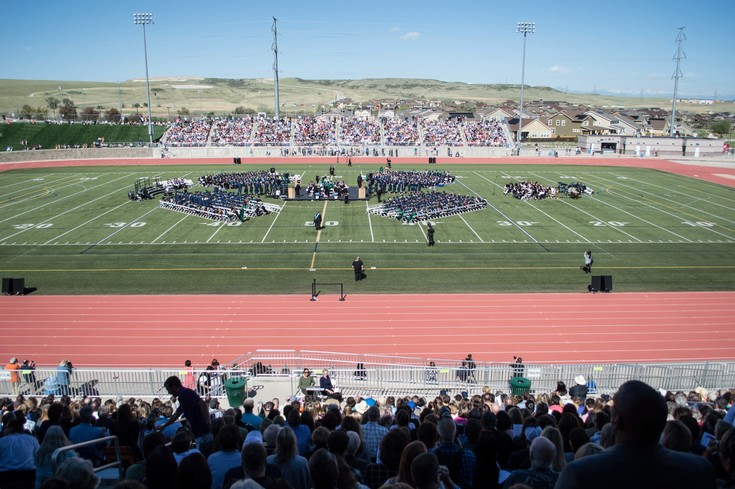 The 478 ThunderRidge seniors' families filled the entire stadium to standing room during the graduation ceremony at Echo Park Stadium on May 16.