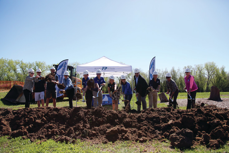 A groundbreaking ceremony & celebration was held May 12 at the planned new four-court indoor and eight-court outdoor facility at the Apex Tennis Center.