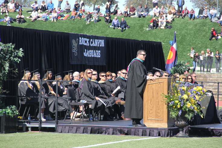 "Rock Canyon Principal Andy Abner told students to ""not wait until tomorrow"" during his speech to the class of 2017."