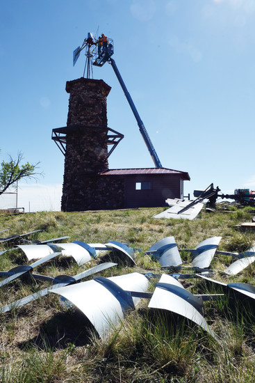 The windmill repairs, which were completed the weekend of May 12, included an analysis of the structure, restoration of the original cobblestone tower and replacement of large wooden timbers and other elements of the windmill assembly, according to Jeff Case, director of public works of the Highlands Ranch Metro District.