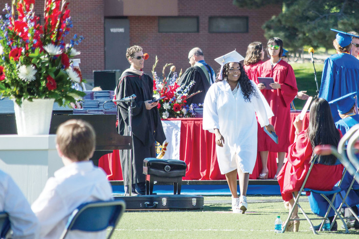 This year's graduates were recognized for recieving the highest ACT composite score in teh school's history during the Cherry Creek High School graduation at the Stutler Bowl Stadium on May 24.