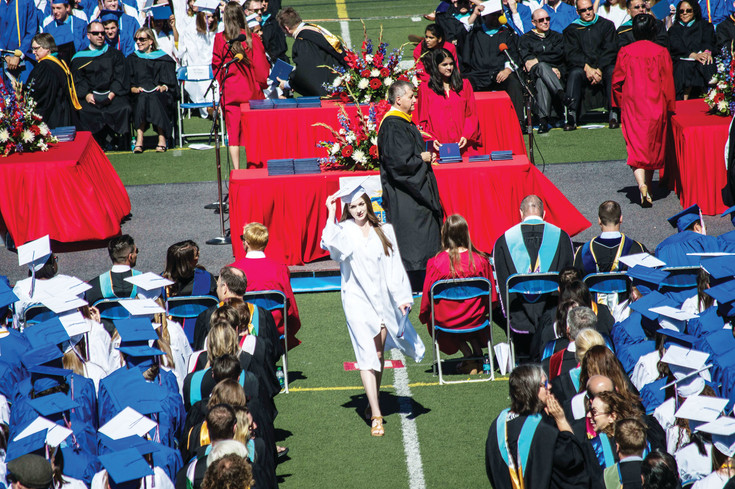Speeches during the graduation ceremony called for students to be activists and seek to change the world during the Cherry Creek High School graduation at the Stutler Bowl Stadium on May 24.