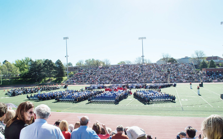 The families of 828 graduating seniors gathered together during during the Cherry Creek High School graduation at the Stutler Bowl Stadium on May 24.