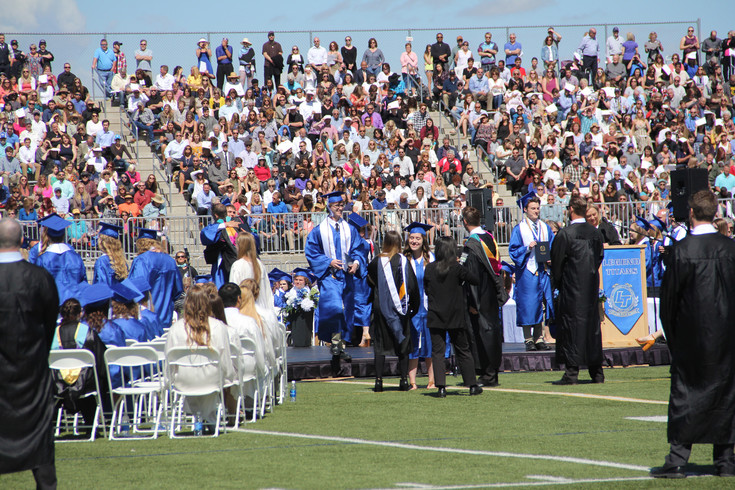 Legend High School graduates receive their diplomas May 26 during the 2017 graduation ceremony.