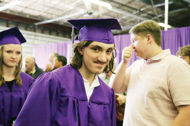 Avalon Yates was the 300th student to graduate from Long View High School. His was the first diploma given at the 2017 commencement.