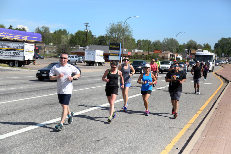 The torch run followed a route down Wadsworth to Colfax in Lakewood and into Denver.