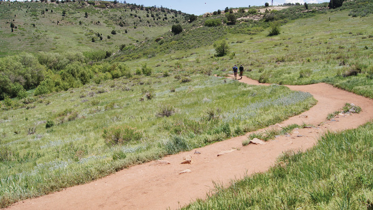 Hikers explore Matthew Winters Park, one of Jeffco Open Spaces' 29 regional parks.