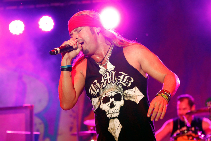 "Bret michaels belts out the Poison hit ""Talk Dirty to Me"" at the Parker Days Sneak Peek concert on June 8. Michaels and his band played a combination of hits he wrote with the band Poison as well as covering classic rock standards throughout the nearly 90-minute set."