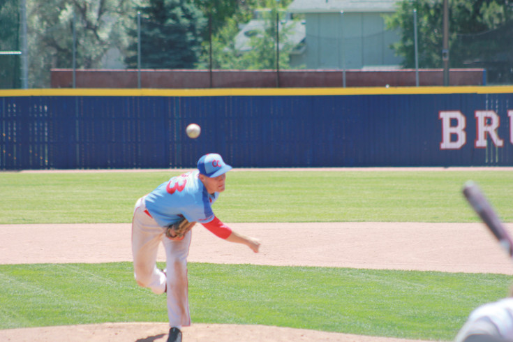 Righthander Riley Egloff, who will be a senior at Heritage, delivers a pitch for the Cherry Creek U18 team during the Cherry Creek Classic baseball tournament in which two teams won berths to the Connie Mack Southwest Regional tournament.