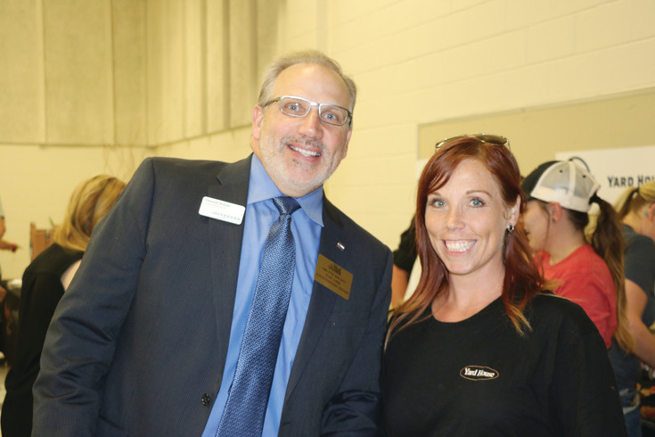 Jeffco County Commissioner Don Rosier was one of the judges at The West Chamber's annual Taste of the West. Here he poses with Heather White with the Yard House, before trying their culinary offerings.