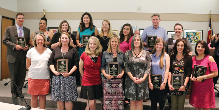 The 2017 Wayne Carle Award recipients were recognized at the June 1 Board of Education meeting. The Wayne Carle Awards are sponsored by the Jeffco Public Schools Student Engagement Office.