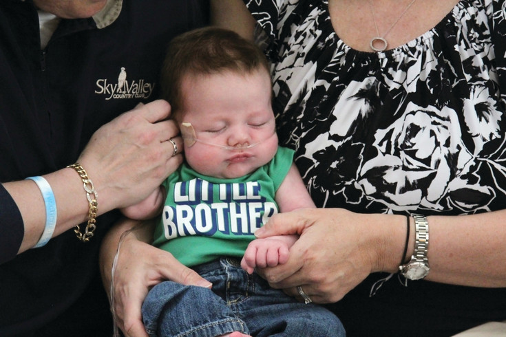 Eli Stevenson was born with congenital diaphragmatic hernia, or CDH, a rare condition in which the diaphram is not properly formed and organs from the abdomen crowd into the chest cavity, inhibiting the heart and lungs.